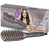 Remington Glättbürste Keratin Protect Ionen 2in1: Glätteisen & Haarbürste für eine reduzierte Stylingzeit (Keratin-Keramikbeschichtung mit Mandelöl angereichert, Digitales Display, 150-230°C) CB7480