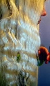 Dauerwelle für lange Haare